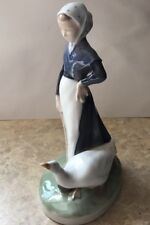 "Vintage Royal Copenhagen Figurine ""WOMAN WITH GOOSE"" #528...Excellent Condition!"