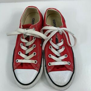 Kids Converse All Star Low Top Red Size 13 Converse Chuck Taylor