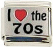 MUSIC THE 70s SEVENTIES RH Laser Italian 9mm Charm MD030 Fits Nomination Classic
