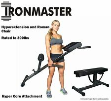 IRONMASTER HyperCore Attachment for Super Bench Hyperextension Roman Chair