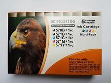 Druckerpatronen D&C DC PGI-570 CLI-571 XL - 10er Set MG5750 MG5751 MG5752 MG5753