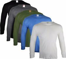 Mens Thermal Underwear Long John Vest Long Sleeve Top  Ski Warm Winter T Shirt