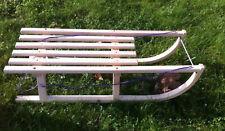 Snow Sleds Sleigh Sledge Wooden Winter Seat Bob 40 inch 102 cm