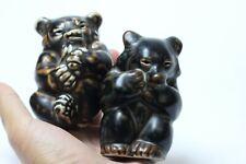 Vintage Royal Copenhagen Knud Kyhn Bear Cubs, early old, Denmark