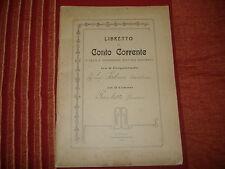 1910 LIBRETTO CONTO CORRENTE COLONO ANCONA TIPOGRAFIA ADRIATICA