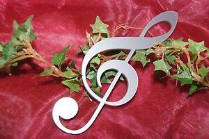 Notenschlüssel Violinschlüssel Tischdeko Dekoration Musik Noten Acryl silber