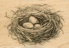 Birds Nest Eggs  INKADINKADO RUBBER STAMP  w/m  Free Shipping  NEW
