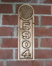 Custom Address Plaque  Celtic Knot Carved Sign
