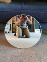 Vintage Circle Frameless Hall Mirror