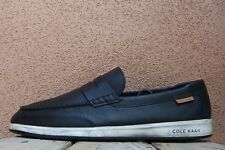 COLE HAAN Mens Casual Dress Shoes Soft Black White Slip On Penny Loafer Sz 10.5M