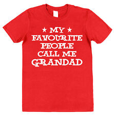 MY FAVOURITE PEOPLE CALL ME GRANDAD T-SHIRT Present Father's Day Grandpa