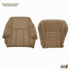 1996 1997 Toyota 4Runner Driver Bottom & Top Lean Back Leather Seat Cover Tan