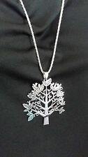 Silver Large Tree of Life Pendant Necklace
