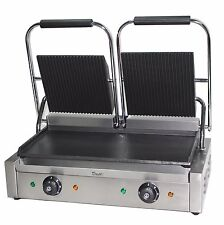 Double Panini Presse MacHine ELECTRIC COMMERCIAL Twin Contact Grill machine maker