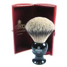 Kent BLK8 Shaving Brush Pure Badger Silver Tip Black Handle LARGE LUXURY Bristle