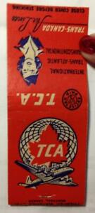 40s 50s Trans-Canada Air Lines Airlines matchbook matches VINTAGE excise stamp