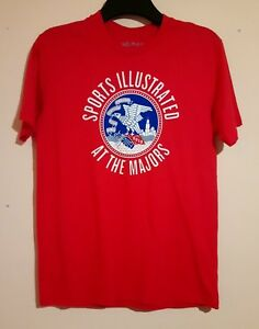 2012 SPORTS ILLUSTRATED AT THE MAJORS RED T SHIRT NO MAS SOUTHWEST AIRLINES S/M