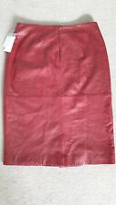 Red real leather Skirt - New With Tags - Size 20w