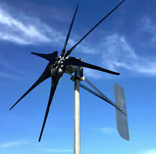 Low Wind Turbine Generator 1000 Watt/P SCORPION 48 AC 3/wire PMA 6 black blades