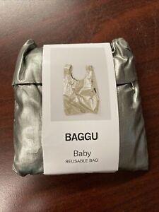 """Baggu Baby Reusable Bag """"Pewter Metallic"""" NEw"""