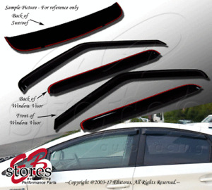 Outside Mount Rain Guards Visor Sun roof Combo 5pcs Volvo S60 2001-2011 4 Doors
