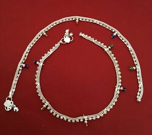 Anklet Pakistan Chain Anklet Bracelet Bells Bare Foot Indian Jewelry Payal