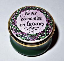 "Halcyon Days Enamel Box - ""Never Economise On Luxuries"" - Gump'S Exclusive"