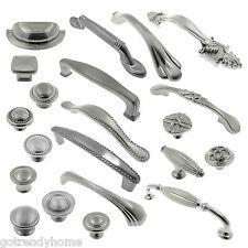 Brushed Satin Nickel Kitchen Cabinet Knob Pull Handles Bin CupPantry Hardware