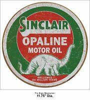 Sinclair Opaline Motor Oil Vintage Retro Round Tin Metal Sign 12 x 12in