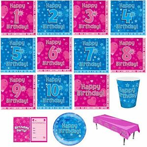 Kids Birthday Party Decorations Supplies Tableware Paper Plate Napkin Serviettes