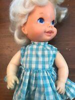 """Mattel 1968 Vintage Doll Wobble Head 11"""" Baby Go Bye Bye"""