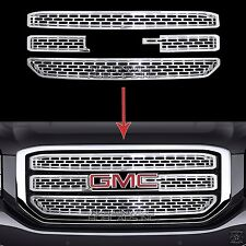 2015 16 17 GMC Yukon XL CHROME Snap On Grille Overlay 3 Bar Grill Covers Inserts