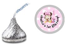BABY MINNIE MOUSE 1ST HERSHEY KISS KISSES LABELS STICKERS BIRTHDAY PARTY FAVORS