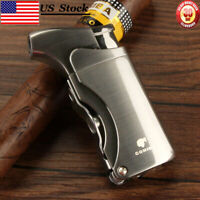 US Stock COHIBA Metal 1 Torch Flame Cigar Cigarette Lighter 2 Punch Windproof