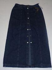 Jones New York Signature Blue Jean Front Button Jean Skirt NWT Sz 4 Long