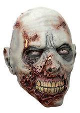 Battle Merchant Zombie Maske mit Narben Grau Fasching Halloween LARP Gummimaske