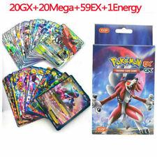 100Pcs Pokemon Cards 20Gx+20Mega+59Ex+1Energy Holo Flash Trading Cards Kids Gift