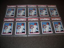 Lot of (10) 1991 Bowman #569 Chipper Jones Braves RC Rookies PSA 10 GEM MINT QTY