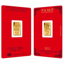 5 gram PAMP Suisse Year of the Dragon Gold Bar (In Assay)