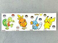 Pokemon 25th Anniversary McDonalds Happy Meal Pikachu Promo Sticker TORCHIC