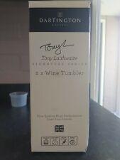 Darlington Crystal, Tony Laithwaite Signature Series, 2 x Wine Tumblers