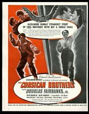 1941 The Corsican Brothers Douglas Fairbanks Jr photo movie release print ad