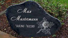 Schwarz Gedenkplatte Grabstein Gedenktafel Gedenkstein Urne Tiergrab Bodenrose