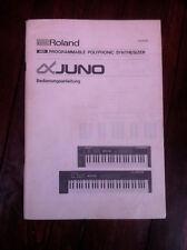 Roland Alpha Juno original owner's manual - français, deutsch Bedienungsanleitun