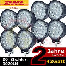 8 x42W LED Zusatzscheinwerfer Offroad Scheinwerfer für Jeep SUV Traktor 12V 24V