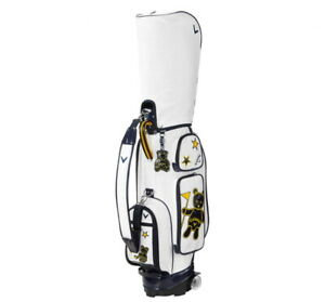 Callaway 2021 Golf CB Bear Carry Wheeled Women's Caddie Bag 8.5In 9lb 5Way White