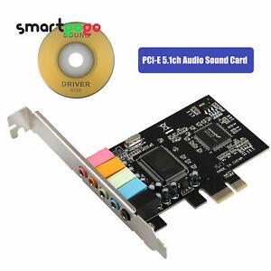 PCI Express x1 PCI-E 5.1CH CMI8738 Chipset Audio Sound Card w/ CD Driver BSG