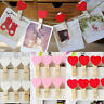 10/20/50pcs Mini Heart Natural Wooden Pegs Photo Clips Room Wedfding Decor Craft