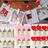 10/20/50 pcs Mini Hearts Wooden Pegs Photo Clips Craft Wedding Party Decor