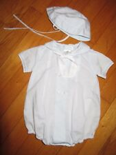 Petit Ami Embroidered Anchor Bubble & Hat Size 3 Months